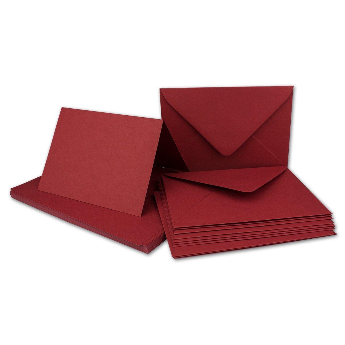 Faltkarten Faltkarten Faltkarten Set mit Brief-Umschlägen DIN A6   C6 in Rosanrot   100 Sets   14,8 x 10,5 cm   Premium Qualität   Serie FarbenFroh® B0727RX6KR | Fierce Kaufen  cfc870