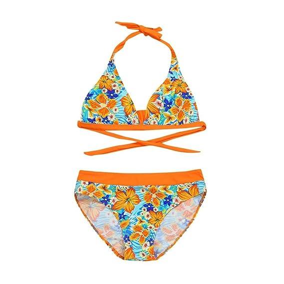 57ffd6294af1 Bañador para niña K-Youth® Verano Niña Conjunto de Bikini Niñas Traje de  Baño Niña Bikini Conjunto Flores Bañador de Dos Piezas para Niña Bebé de ...