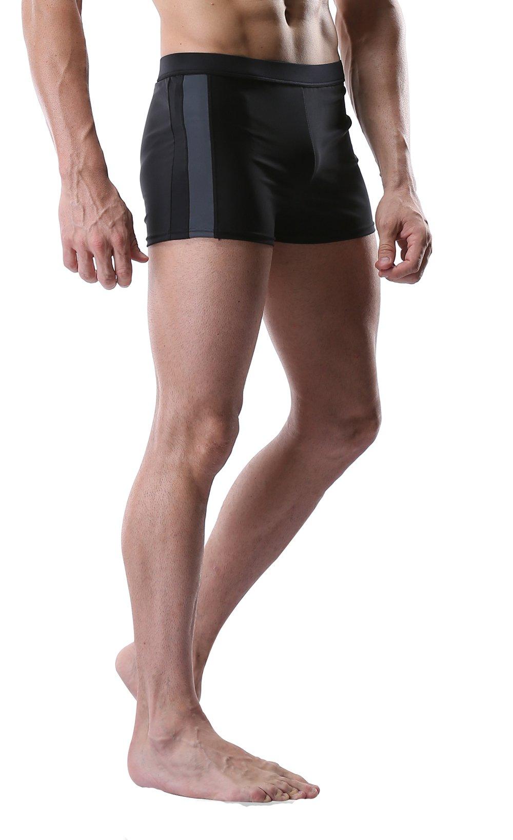 a0de07e80a CharmLeaks Men's Swim Trunk Solid Swimming Brief Swimsuit for Men Fitness  Swimwear product image