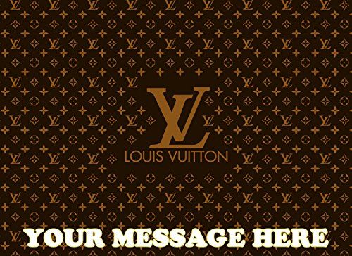 Price comparison product image Louis Vuitton Personalized Edible Cake Topper Icing Sugar Sheet A4 1 / 4 Paper