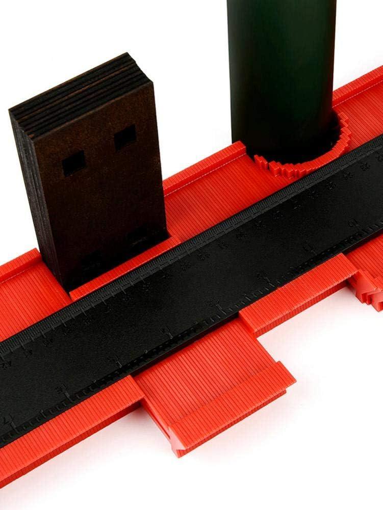 Jauge de Contours gabarit 50,8 cm Plastique Duplicateur de Forme pr/écise tra/çage Bois Outil de Mesure pour Ajustement et d/écoupe Facile Copie de Formes irr/éguli/ères