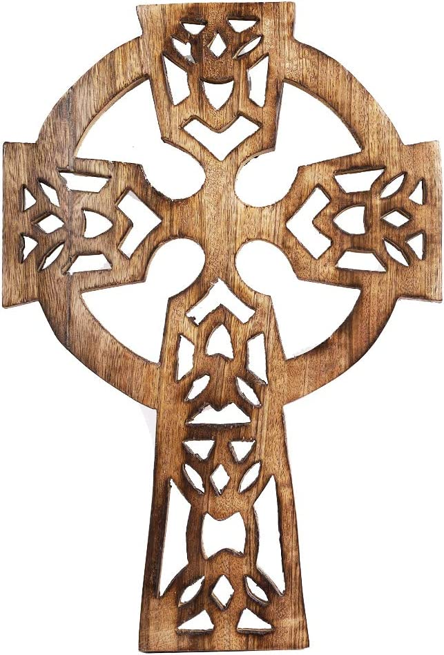 Artisans Of India Wooden Religious Cross Catholic Crucifix Church Chapel Altar French Plaque Living Room Home Décor Wall Hanging