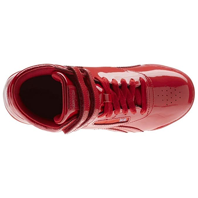 Reebok Kids Freestyle HI Patent Leather - CN2078 - Color Red - Size  4.5   Amazon.co.uk  Shoes   Bags 5d70d5129