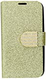 lg l70 phone accessories - HR Wireless LG L70/Optimus Exceed 2 Shiny PU Leather Bling Flip Wallet Credit Card Cover Case - Retail Packaging - Gold