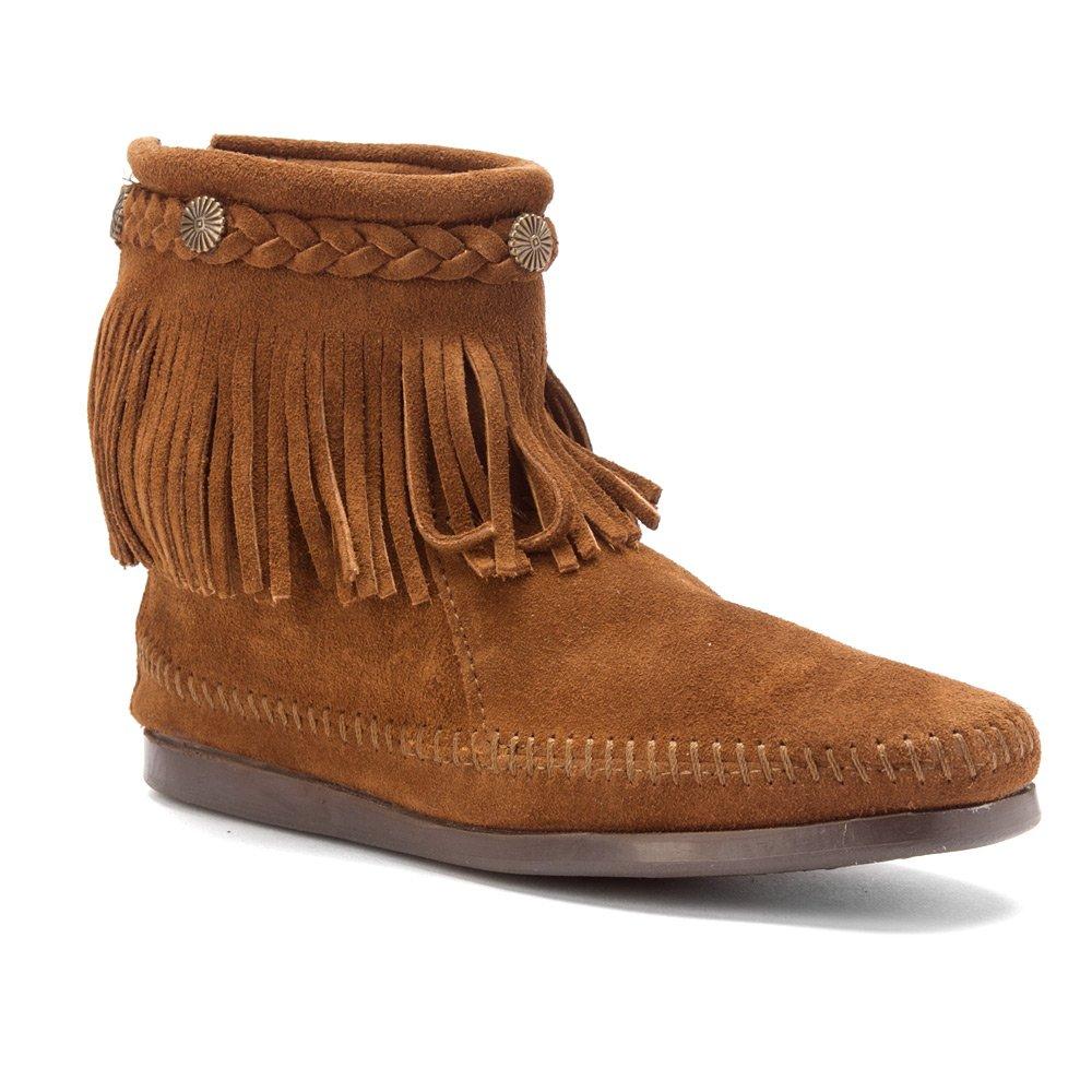 Dusty Brown Suede Minnetonka Women's Back-Zip Boot