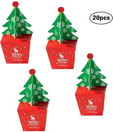 XKJFZ Suministros de Navidad Caja del Caramelo 3D del árbol de Navidad Cajas Apple Embalaje Cajas Tratar la Fiesta de Navidad: Amazon.es: Hogar