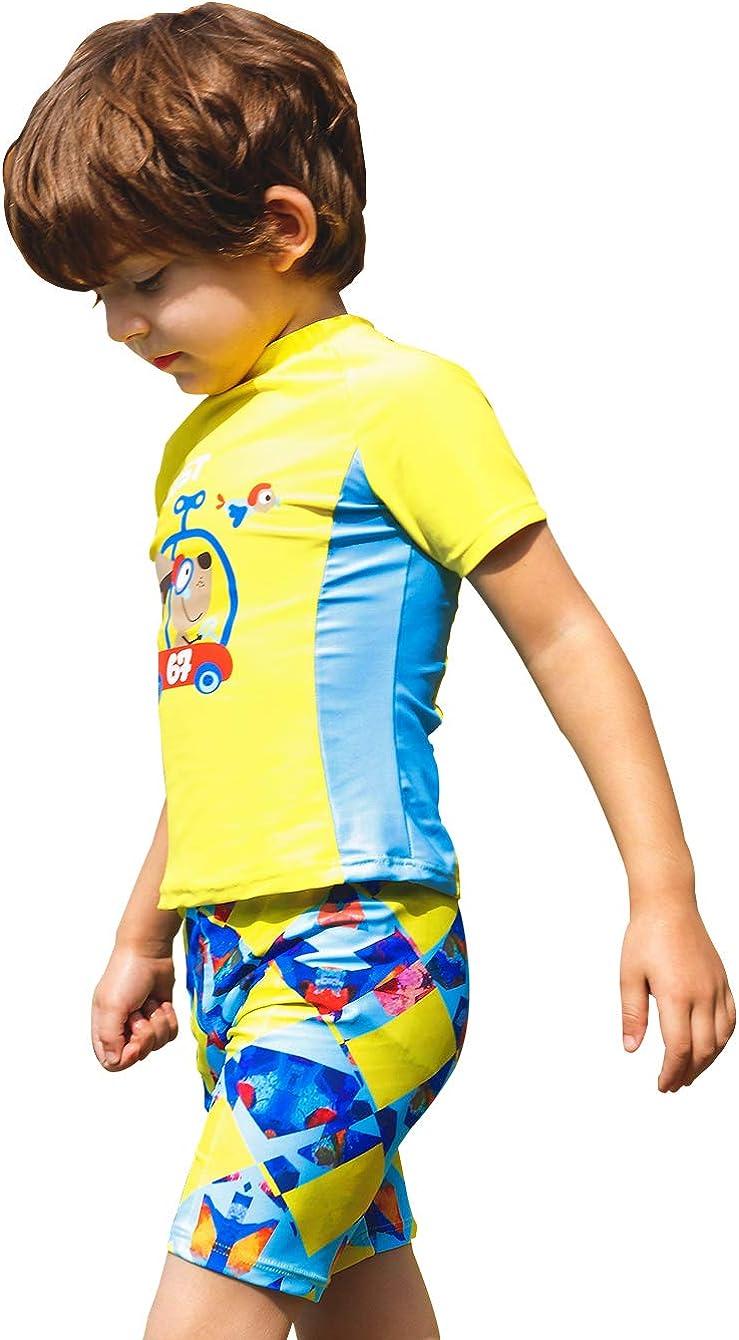sunseen Boys Bathing Swimsuit Babys Toddler SPF 50 Quick-Dry Swimwear Cartoon Trunk Hawaiian Boyshort Beach Rashguard