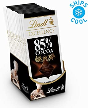 12-Pack Lindt EXCELLENCE 3.5 oz 85% Cocoa Dark Chocolate Bar