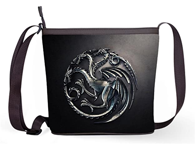 Fashion Casual and Popular Female Sling Bag Crossbody Bag Shoulder Bag with House Targaryen - Game of Thrones Print