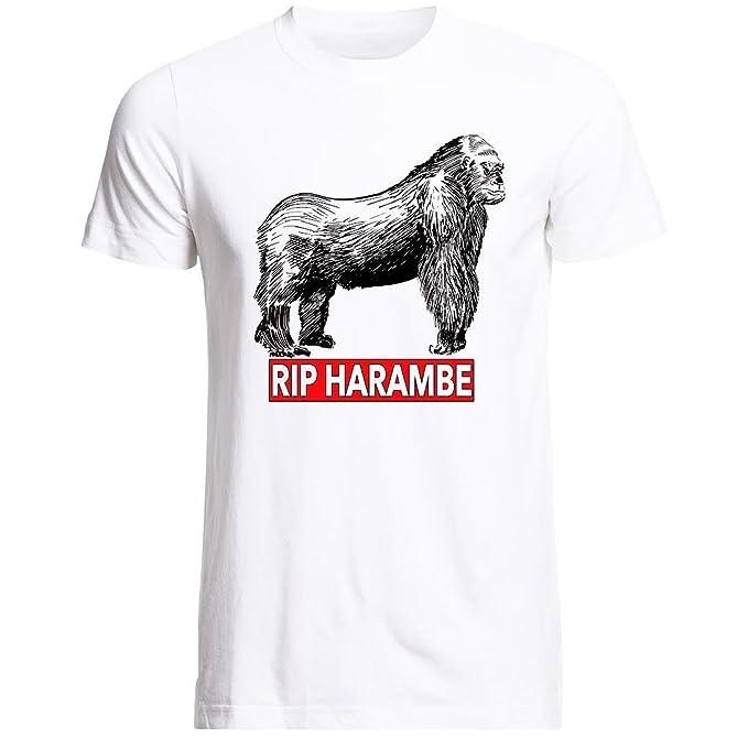 harambe Gorilla Tshirts, Rip Cincinnati Zoo hombre camisetas, apoyo harambe Tee: Amazon.es: Ropa y accesorios