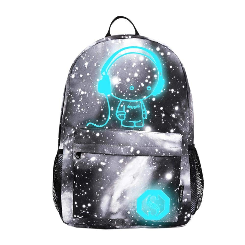 Amazon.com: 2018 Cartoon Luminous Backpack Schoolbag for Girls Anime School Bag Boy Laptop Travel Bags Mochila Hombre: Kitchen & Dining