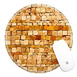 Best Luxlady Tile Patterns For Bathrooms - Luxlady Round Gaming Mousepad 25488938 Small stone tiles Review