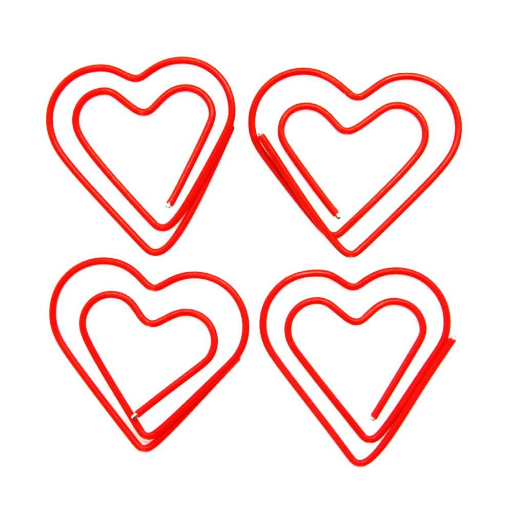 PAGINE CLIP Creative a forma di cuore metallo segnalibro for Art PROGETTI RASCHIARE LIBRO OFFICE PER LA SCUOLA Supplies Confezione di 50 jujia