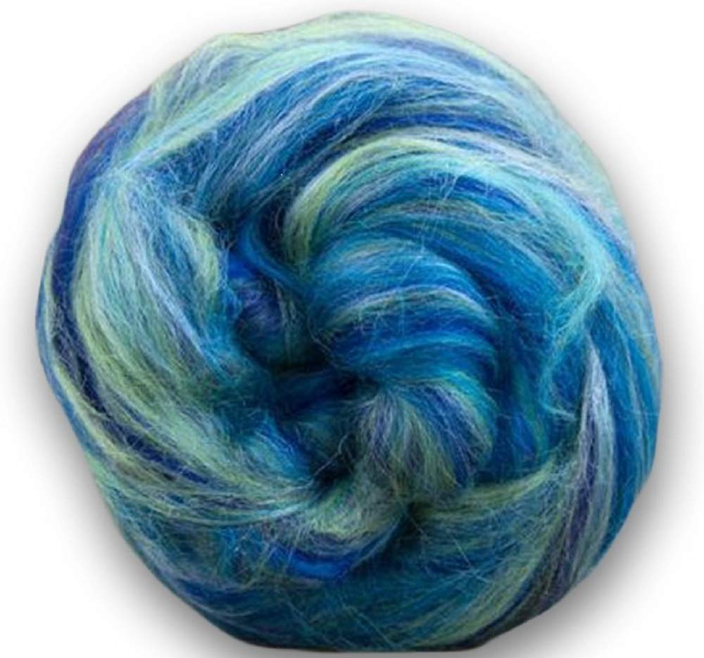 Paradise Fibers Soft & Silky Constellation Range Aquarius - 70% 23 Micron Solid Color Merino Wool and 30% Bleached Tussah Silk Blend