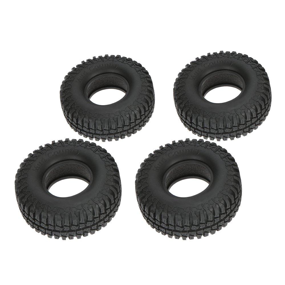 Goolsky 4Pcs Austar 1.9 100mm 1//10 Scale Tires for 1//10 RC4WD D90 Axial SCX10 RC Rock Crawler
