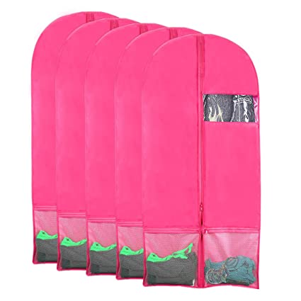 68a045146472 Kernorv Garment Bags for Dance Costumes, Set of 5 Breathable Dust-Proof  Garment Bags 51