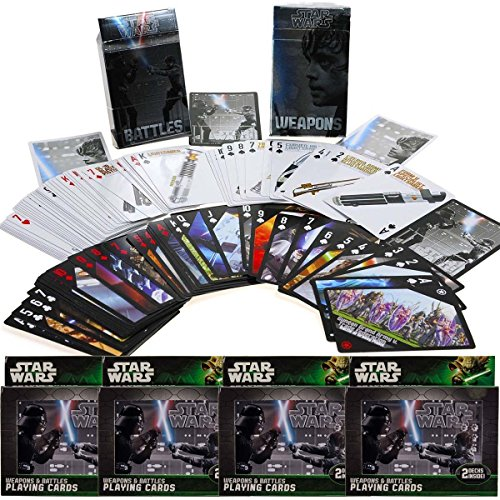 (Cartamundi Star Wars (8 Decks) Weapons and Battles Deck Playing Cards in Tin Cases)