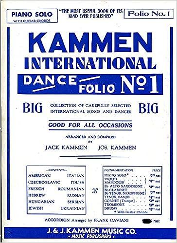 Kammen International Dance Folio No. 1: Piano Solo with Guitar ...