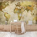 Non-woven Wallpaper - World Map - Mural Wide wallpaper wall mural photo feature wall-art wallpaper murals bedroom living room