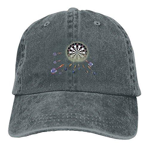 (Buecoutes Clip Darts Vintage Cowboy Baseball Caps Trucker Hats Asphalt)