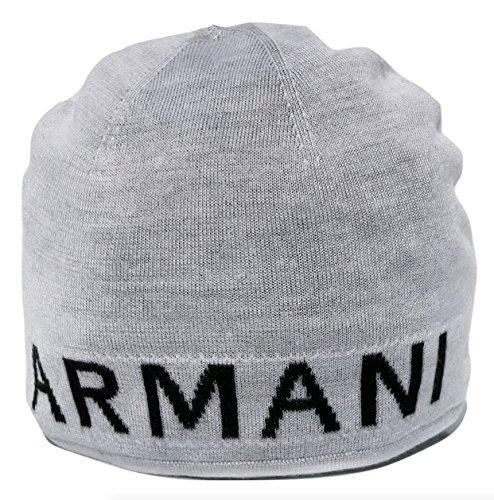 Armani Exchange AIX Reversible Contrast Logo Classic Beanie Hat, - Armani Aix