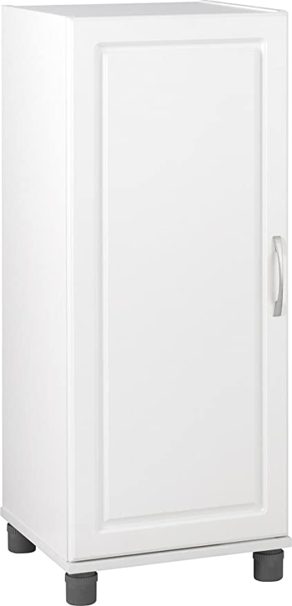 Ameriwood SystemBuild Kendall 16u0026quot; Stackable Storage Cabinet, White  Stipple