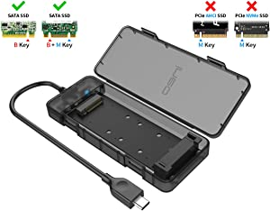 ineo M.2 NGFF SSD USB 3.2 Gen 2 Type C Tool-Less SATA Enclosure [C2575 NGFF]