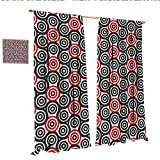 Best Croscill Blinds - Geometric Circle Drapes for Living Room Interlace Spiral Review