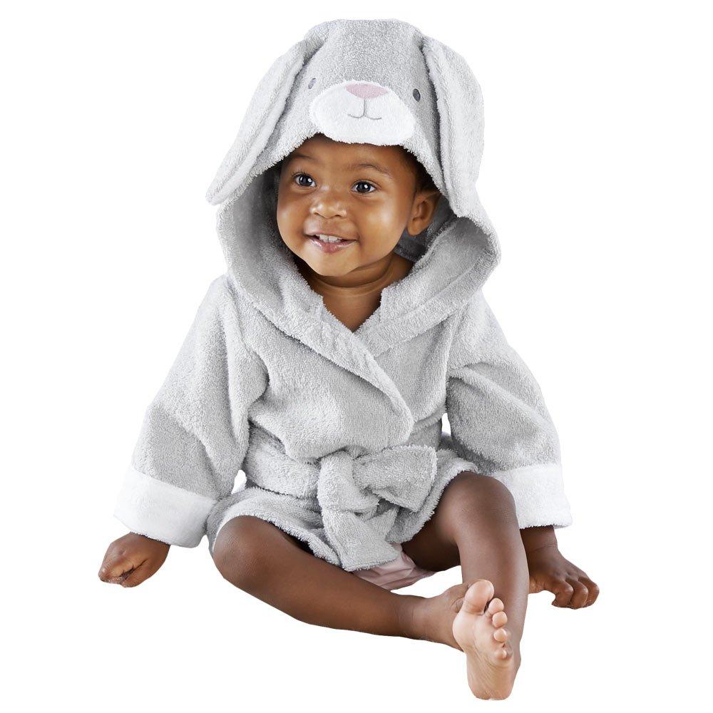 Baby Aspen Best Bunnies Hooded Spa Robe, Grey/White by Baby Aspen
