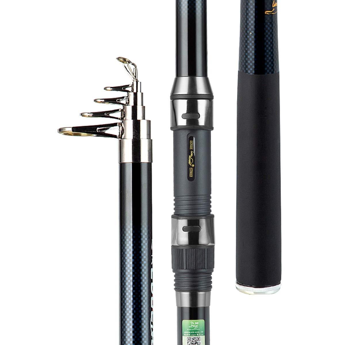 A2.4m Canne à Pêche Télescopique Et Moulinet Combos Kit Complet Spinning Matériel De Pêche Organisateur Pole Sets avec Ligne Leurres Crochets Bobine (Taille   B3.6m)