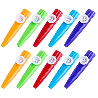 Coxeer Musical Instrument 10PCS Kids Musical Instrument Creative Plastic Kazoo Educational Toy Musical Toy: Home & Kitchen