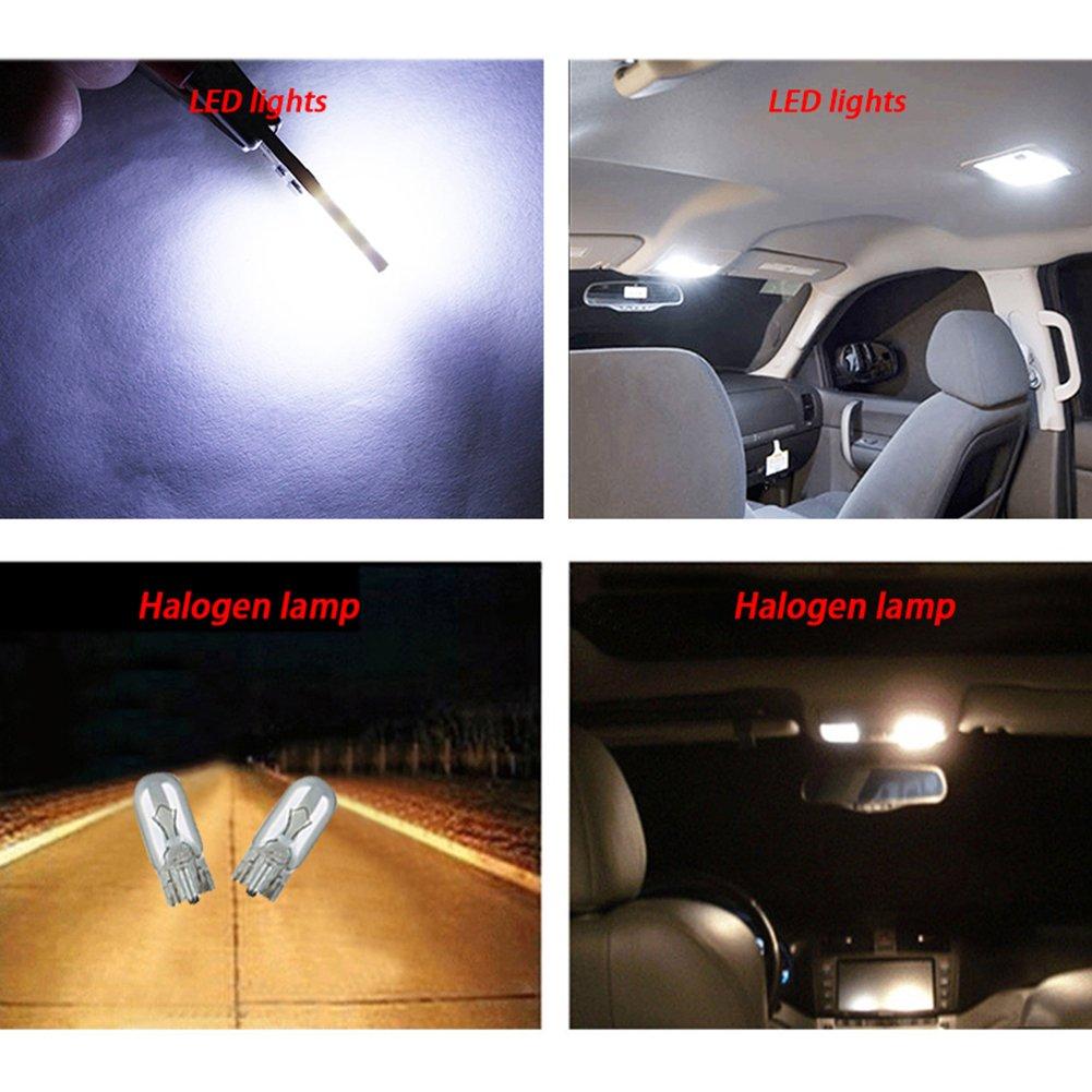 confezione da 2 Taben High Power Canbus no Error free W5/W T10/LED Canbus COB auto lampadina lampada luce interna comando esterno luci LED cupola mappa porta targa luci di cortesia bianco