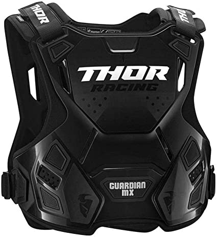 Thor Guardian Mx Roost Deflector Motocross Mtb Chest Guard Black Black Xl Xxl Sport Freizeit