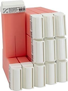 Oferta amazon: Epilwax 12 Cartuchos Roll-On de Cera Depilatoria Tibia Cera roll on de 100 ml de Cera profesional Rosa de alta calidad para Depilación con Bandas Depilatorias des las piernas, axilas, y el cuerpo