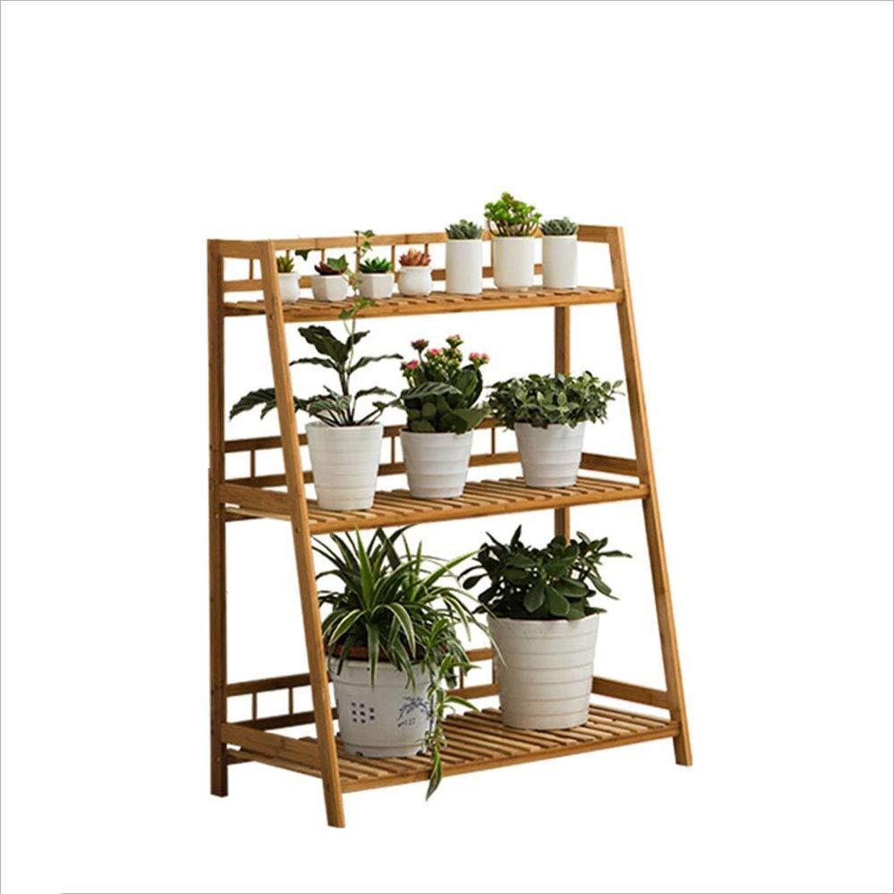 花スタンド竹床屋内多層梯子緑植物フラワースタンドバルコニーリビングルーム屋外 B07T624VMD