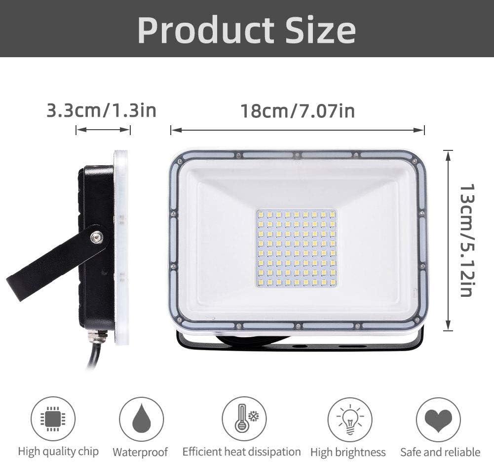 IP67 Imperm/éable LED Projecteur le Garage LED Projecteur Exterieur 5000LM lH/ôtel la Rute Viugreum 50W Projecteur LED Blanc Chaud 2800-3200K,Projecteur LED id/éal pour le Jardin l/'Artelier