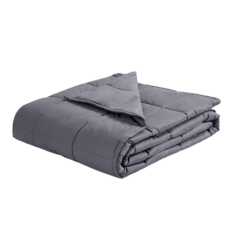 HSBAIS 不安女王のための厚い毛布、加重ブランケット大人/子供、不眠症、自閉症、ストレスおよび不安に適したガラスビーズのコットン,47