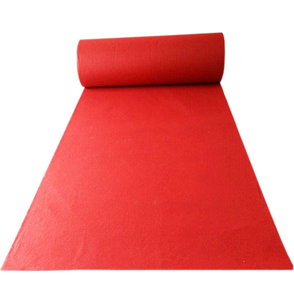 ラグの結婚式のカーペットの劇場展覧会のカーペットの結婚式の開会式ブラシをかけられた厚い歓迎のカーペットのスリップ防止、滑り止めのカーペットの長期使用 (Color : RED 1.5M*10M) B07SCHJY2Z RED 1.5M*10M
