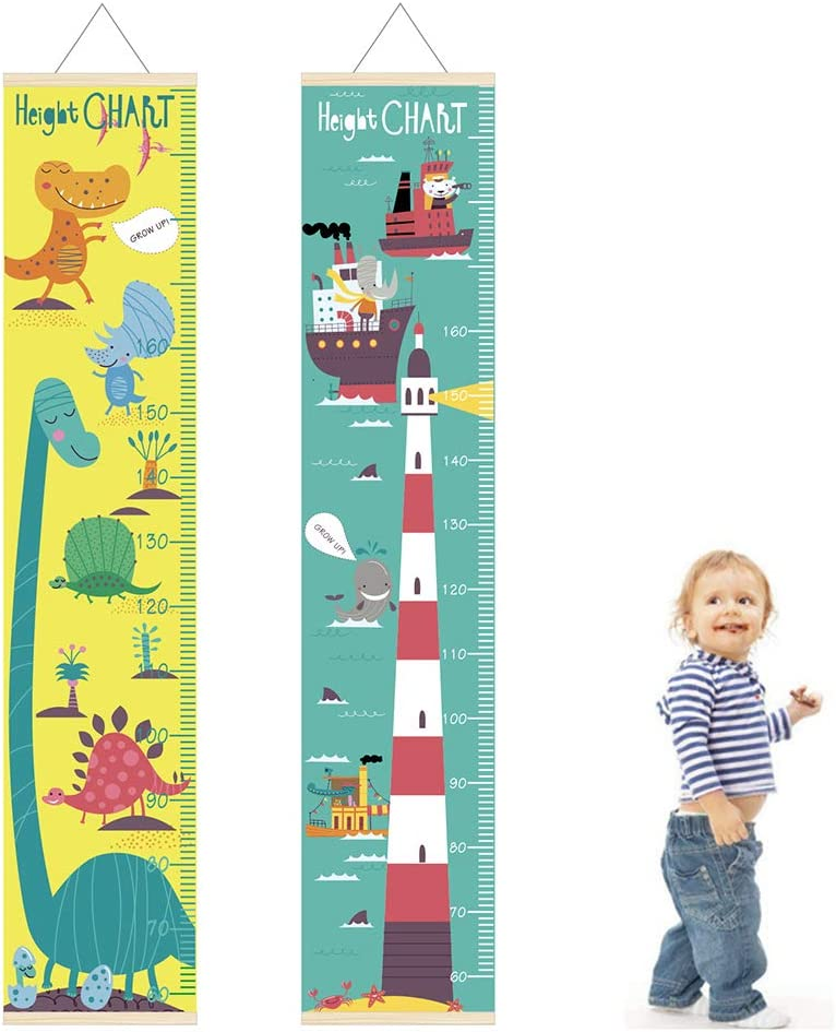 Raumschiff Tier Dinosaurier Kinder Messlatte Kinder Growth Wall Hanging Decor Leuchtturm * pengyu Messlatte