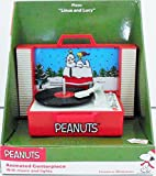 Peanuts Animated Centerpiece With Music And Lights Snoopy and Woodstock On The Doghouse Record Player Plays 'Linus And Lucy'