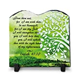 Fear Thou Not; For I Am With Thee Isaiah 41:10 (7.8X7.8, KJV)| Superior Religious Inspirational Home Décor By Inspiragifts Christmas Gift | Christian Home Plaque Gift For Sale
