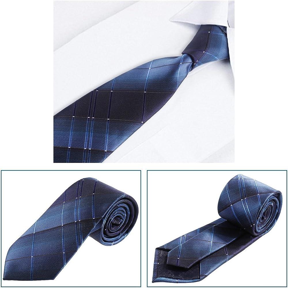 Rovtop Corbatas de Hombre Enrejado Caja Regalo Conjunto con Lazos ...