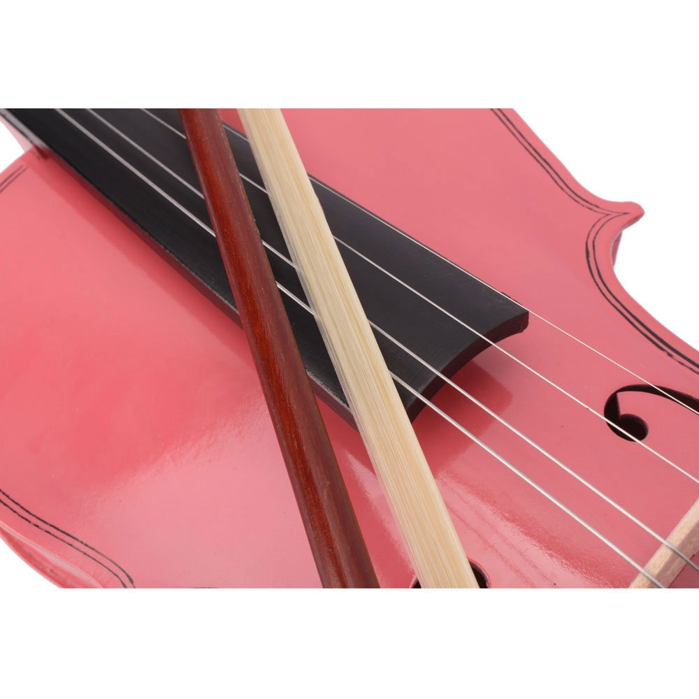DESERT FOX 4/4 Full Size Acoustic Violin,Made from Basswood with Hard Case, Bow and Rosin (Pink) by DESERT FOX (Image #6)