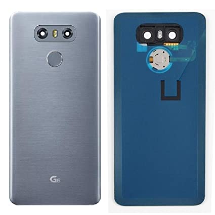 A1P Replacement for LG G6 Back Glass Glass Cover Simple Housing Fingerprint  Button Camera Lens & Adhesive Preinstalled Part | Battery Door Glass Panel
