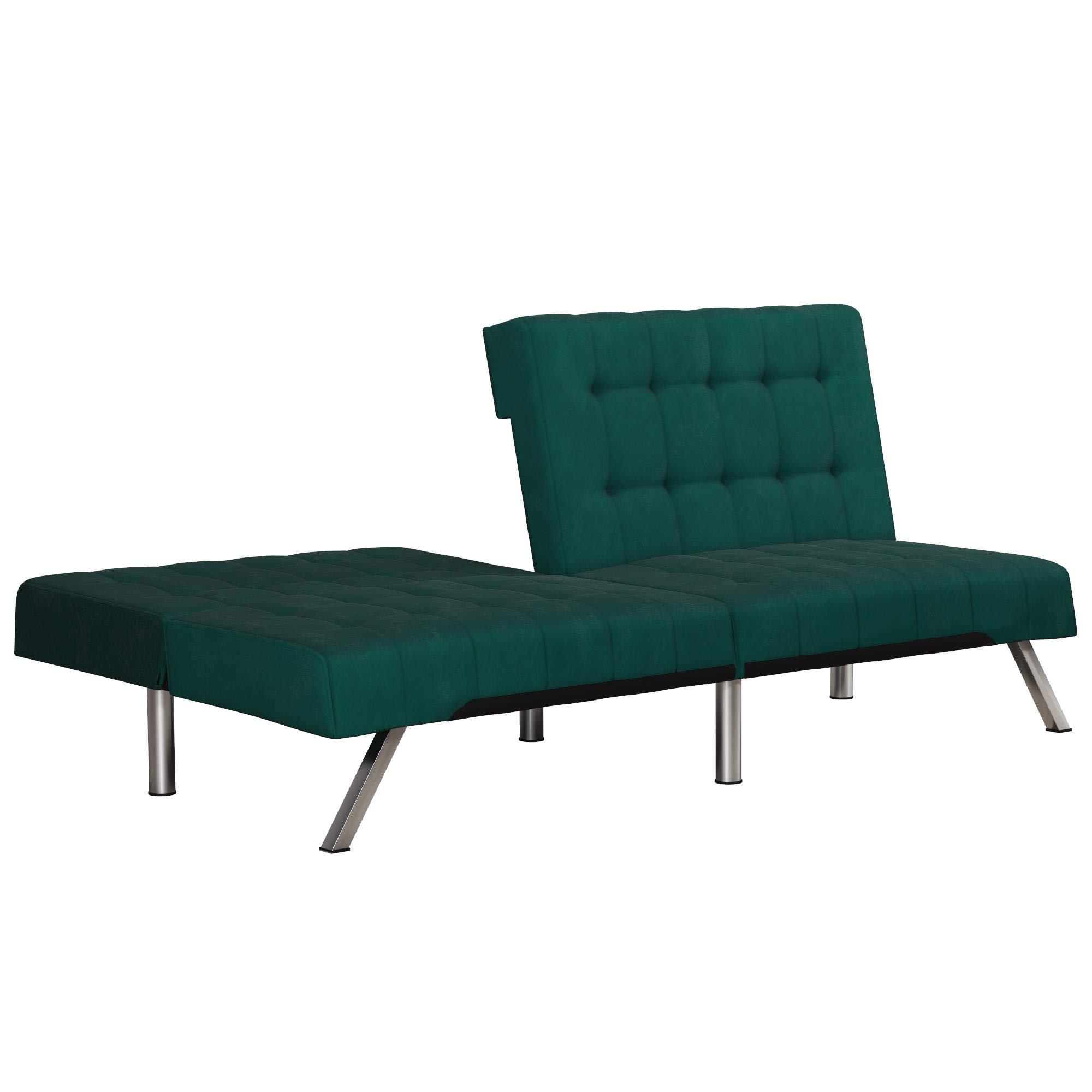 Enjoyable Dhp Emily Futon Sofa Bed Modern Couch Green Velvet Inzonedesignstudio Interior Chair Design Inzonedesignstudiocom