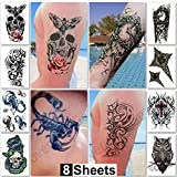Your temporary tattoo can be placed anywhere on your hands, arms, face, neck, shoulders, chest, back, ankles, feet or legs.       Great for music festivals and concerts, beach or birthday parties, weddings, stag/bachelor or bridal show...
