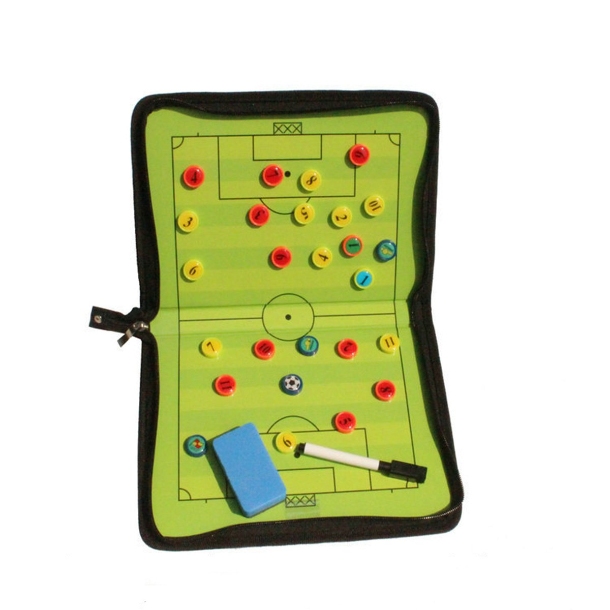 VORCOOL Magnetic Tactic Coach ClipBoard Coaching Strategy Board Coach Tool for Soccer