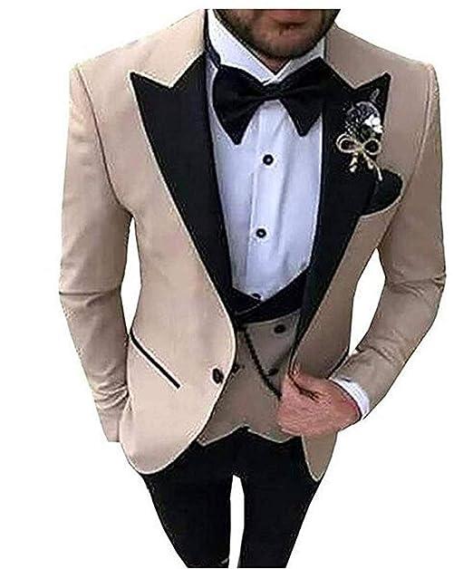 Amazon.com: HSLS - Traje de boda para hombre, 3 piezas ...