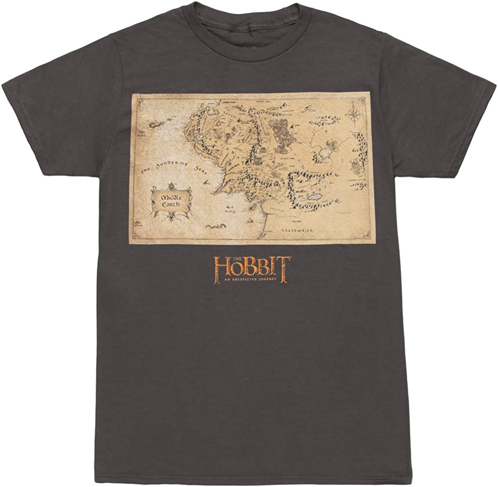 The Hobbit Middle Earth Map Youth T-shirt