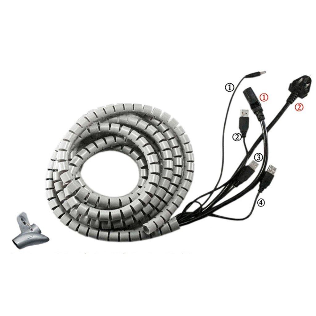 MagiDeal Kabelmanager Flexible Hülle Spirale Kabelschlauch Kabel ...